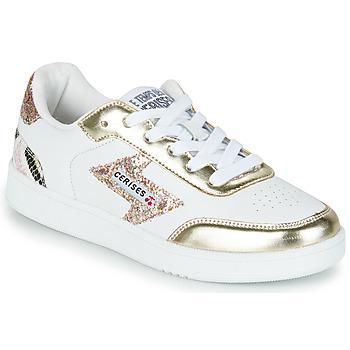 Topánky Ženy Nízke tenisky Le Temps des Cerises FLASH Biela / Zlatá