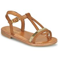 Topánky Dievčatá Sandále Les Tropéziennes par M Belarbi BADA Svetlá hnedá medová / Zlatá