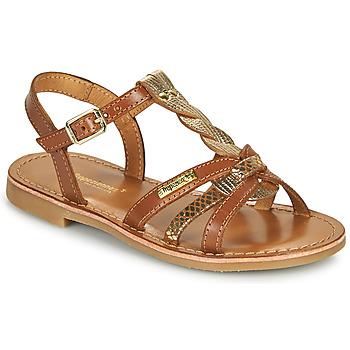 Topánky Dievčatá Sandále Les Tropéziennes par M Belarbi BADAMI Ťavia hnedá / Zlatá