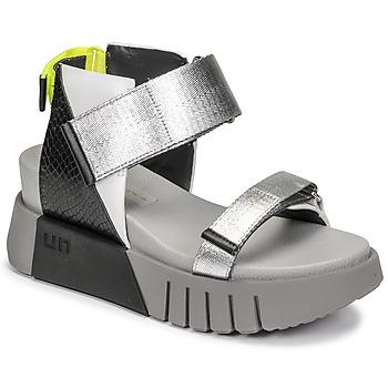 Topánky Ženy Sandále United nude DELTA RUN Čierna / Strieborná