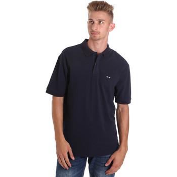 Oblečenie Muži Polokošele s krátkym rukávom Les Copains 9U9015 Modrá