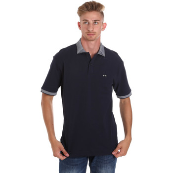 Oblečenie Muži Polokošele s krátkym rukávom Les Copains 9U9024 Modrá