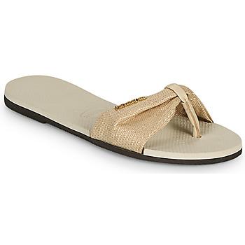 Topánky Ženy Žabky Havaianas YOU ST TROPEZ SHINE Béžová