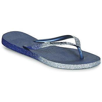 Topánky Ženy Žabky Havaianas SLIM SPARKLE II Námornícka modrá