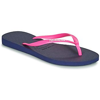 Topánky Ženy Žabky Havaianas SLIM LOGO Námornícka modrá