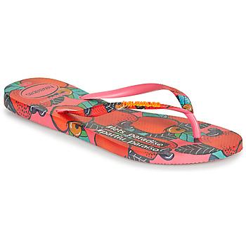 Topánky Ženy Žabky Havaianas SLIM SUMMER Ružová / Červená