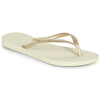 Topánky Ženy Žabky Havaianas SLIM GLITTER II Béžová