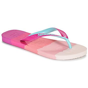 Topánky Ženy Žabky Havaianas TOP LOGOMANIA MULTICOLOR Ružová