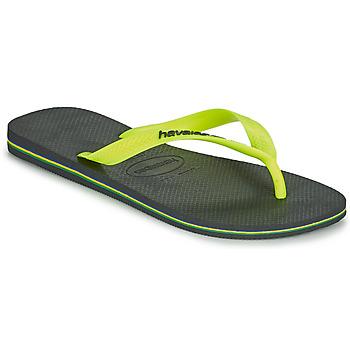 Topánky Muži Žabky Havaianas BRASIL LOGO Šedá