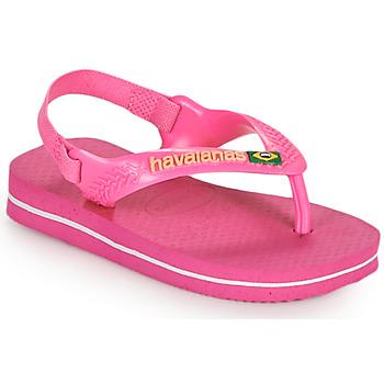 Topánky Dievčatá Žabky Havaianas BABY BRASIL LOGO II Ružová