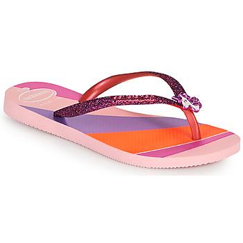 Topánky Dievčatá Žabky Havaianas KIDS SLIM GLITTER II Ružová