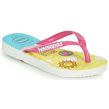 Topánky Dievčatá Žabky Havaianas KIDS SLIM HELLO KITTY Biela