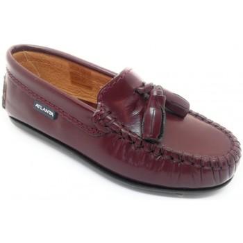 Topánky Deti Mokasíny Atlanta 24268-18 Bordová