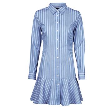 Oblečenie Ženy Krátke šaty Lauren Ralph Lauren TRIELLA Modrá / Biela