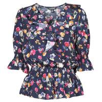 Oblečenie Ženy Košele a blúzky Lauren Ralph Lauren HELZIRA Modrá / Viacfarebná
