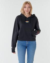 Oblečenie Ženy Mikiny Vans WM OVAL TEEN HOODIE Čierna