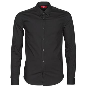 Oblečenie Muži Košele s dlhým rukávom BOTD OMAN Čierna