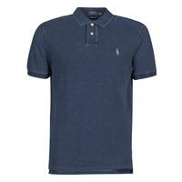 Oblečenie Muži Polokošele s krátkym rukávom Polo Ralph Lauren POLO AJUSTE DROIT EN COTON BASIC Modrá