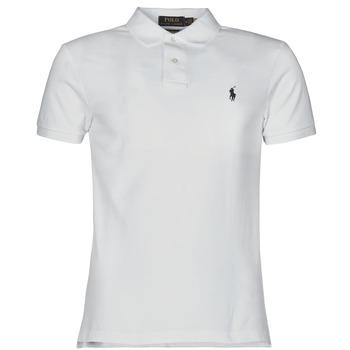 Oblečenie Muži Polokošele s krátkym rukávom Polo Ralph Lauren POLO CINTRE SLIM FIT EN COTON BASIC MESH LOGO PONY PLAYER Biela