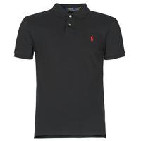 Oblečenie Muži Polokošele s krátkym rukávom Polo Ralph Lauren POLO CINTRE SLIM FIT EN COTON BASIC MESH LOGO PONY PLAYER Čierna