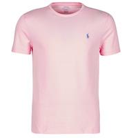 Oblečenie Muži Tričká s krátkym rukávom Polo Ralph Lauren T-SHIRT AJUSTE COL ROND EN COTON LOGO PONY PLAYER Ružová / Carmel