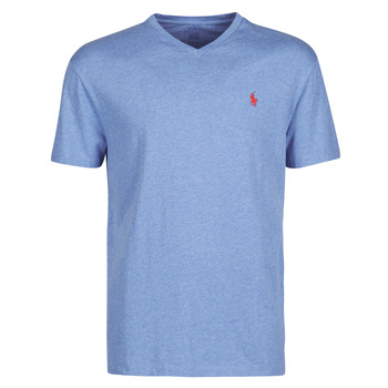 Oblečenie Muži Tričká s krátkym rukávom Polo Ralph Lauren T-SHIRT AJUSTE COL V EN COTON LOGO PONY PLAYER Modrá / Pale / Kráľovská modrá / Heather