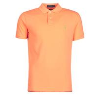 Oblečenie Muži Polokošele s krátkym rukávom Polo Ralph Lauren POLO AJUSTE DROIT EN COTON BASIC MESH LOGO PONY PLAYER Oranžová