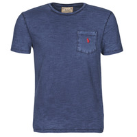 Oblečenie Muži Tričká s krátkym rukávom Polo Ralph Lauren T-SHIRT AJUSTE COL ROND EN COTON LOGO PONY PLAYER Modrá