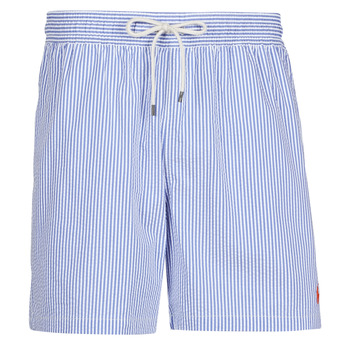 Oblečenie Muži Plavky  Polo Ralph Lauren MAILLOT SHORT DE BAIN RAYE SEERSUCKER CORDON DE SERRAGE ET POCHE Modrá