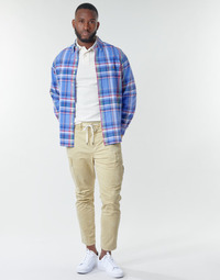 Oblečenie Muži Nohavice Cargo Polo Ralph Lauren SHORT PREPSTER AJUSTABLE ELASTIQUE AVEC CORDON INTERIEUR LOGO PO Béžová
