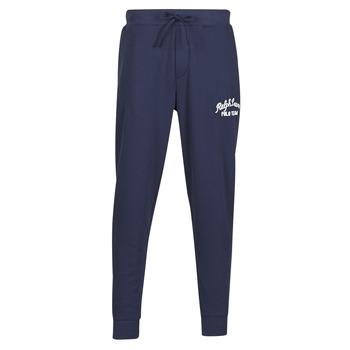 Oblečenie Muži Tepláky a vrchné oblečenie Polo Ralph Lauren BAS DE JOGGING EN MOLTON POLO RALPH LAUREN SIGNATURE Námornícka modrá