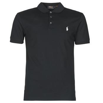 Oblečenie Muži Polokošele s krátkym rukávom Polo Ralph Lauren POLO CINTRE SLIM FIT EN COTON STRETCH MESH LOGO PONY PLAYER Čierna