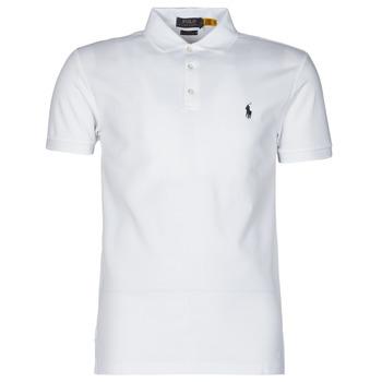 Oblečenie Muži Polokošele s krátkym rukávom Polo Ralph Lauren POLO CINTRE SLIM FIT EN COTON STRETCH MESH LOGO PONY PLAYER Biela