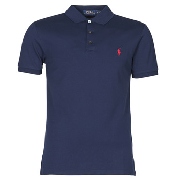 Oblečenie Muži Polokošele s krátkym rukávom Polo Ralph Lauren POLO CINTRE SLIM FIT EN COTON STRETCH MESH LOGO PONY PLAYER Námornícka modrá