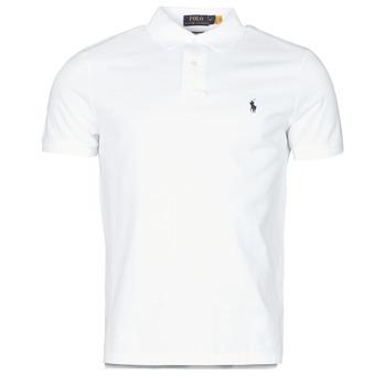 Oblečenie Muži Polokošele s krátkym rukávom Polo Ralph Lauren POLO AJUSTE DROIT EN COTON BASIC MESH LOGO PONY PLAYER Biela