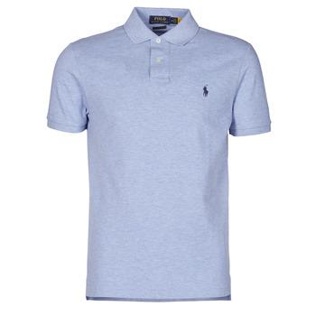Oblečenie Muži Polokošele s krátkym rukávom Polo Ralph Lauren POLO AJUSTE DROIT EN COTON BASIC MESH LOGO PONY PLAYER Modrá / Jamaica / Heather
