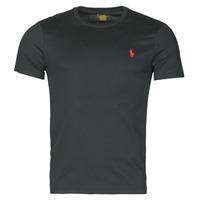 Oblečenie Muži Tričká s krátkym rukávom Polo Ralph Lauren T-SHIRT AJUSTE COL ROND EN COTON LOGO PONY PLAYER Čierna