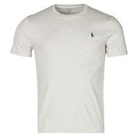 Oblečenie Muži Tričká s krátkym rukávom Polo Ralph Lauren T-SHIRT AJUSTE COL ROND EN COTON LOGO PONY PLAYER Šedá