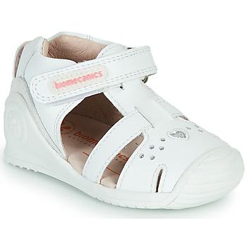 Topánky Dievčatá Sandále Biomecanics 212104 Biela / Strieborná