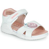Topánky Dievčatá Sandále Biomecanics 212163 Biela / Ružová