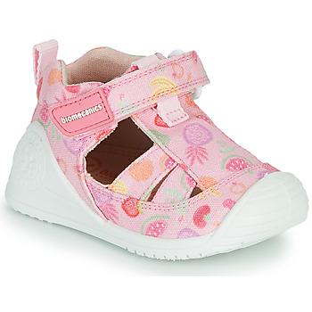 Topánky Dievčatá Sandále Biomecanics 212212 Ružová