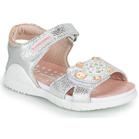 Topánky Dievčatá Sandále Biomecanics 212172 Strieborná