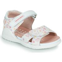 Topánky Dievčatá Sandále Biomecanics 212165 Biela / Viacfarebná