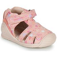 Topánky Dievčatá Sandále Biomecanics 212107 Ružová