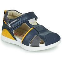 Topánky Chlapci Sandále Biomecanics 212187 Námornícka modrá / Žltá