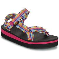 Topánky Dievčatá Sandále Teva C MIDFORM FRAY Ružová / Viacfarebná