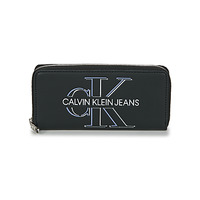 Tašky Ženy Peňaženky Calvin Klein Jeans ZIP AROUND GLOW Čierna