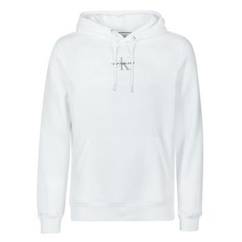 Oblečenie Muži Mikiny Calvin Klein Jeans NEW ICONIC ESSENTIAL HOODIE Biela