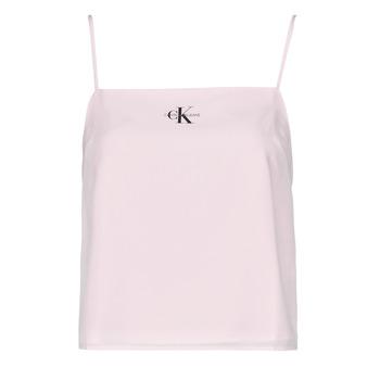 Oblečenie Ženy Blúzky Calvin Klein Jeans MONOGRAM CAMI TOP Ružová