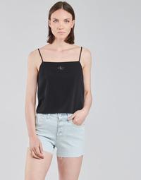 Oblečenie Ženy Blúzky Calvin Klein Jeans MONOGRAM CAMI TOP Čierna